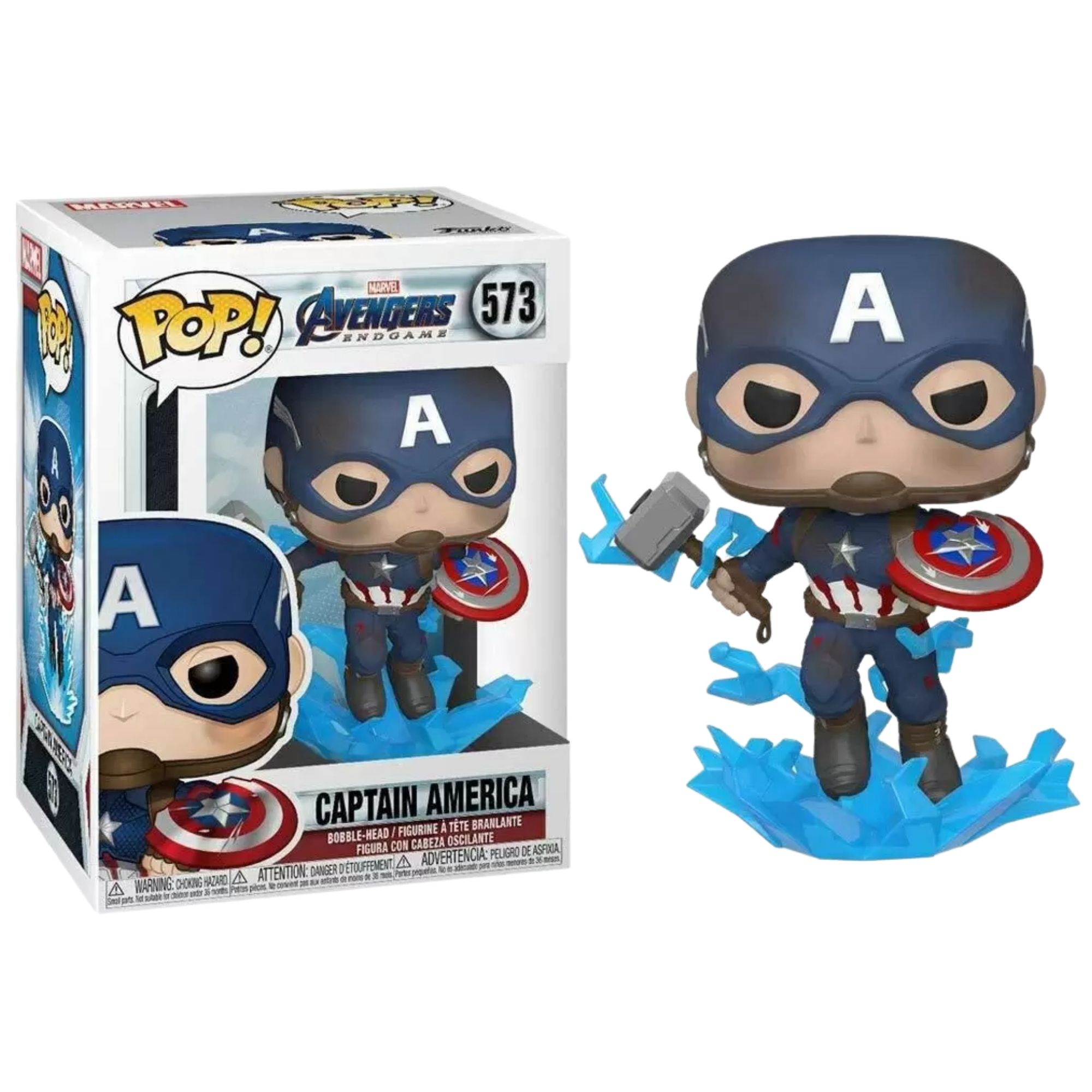 Funko Pop Marvel Avengers Captain America #573  - Game Land Brinquedos