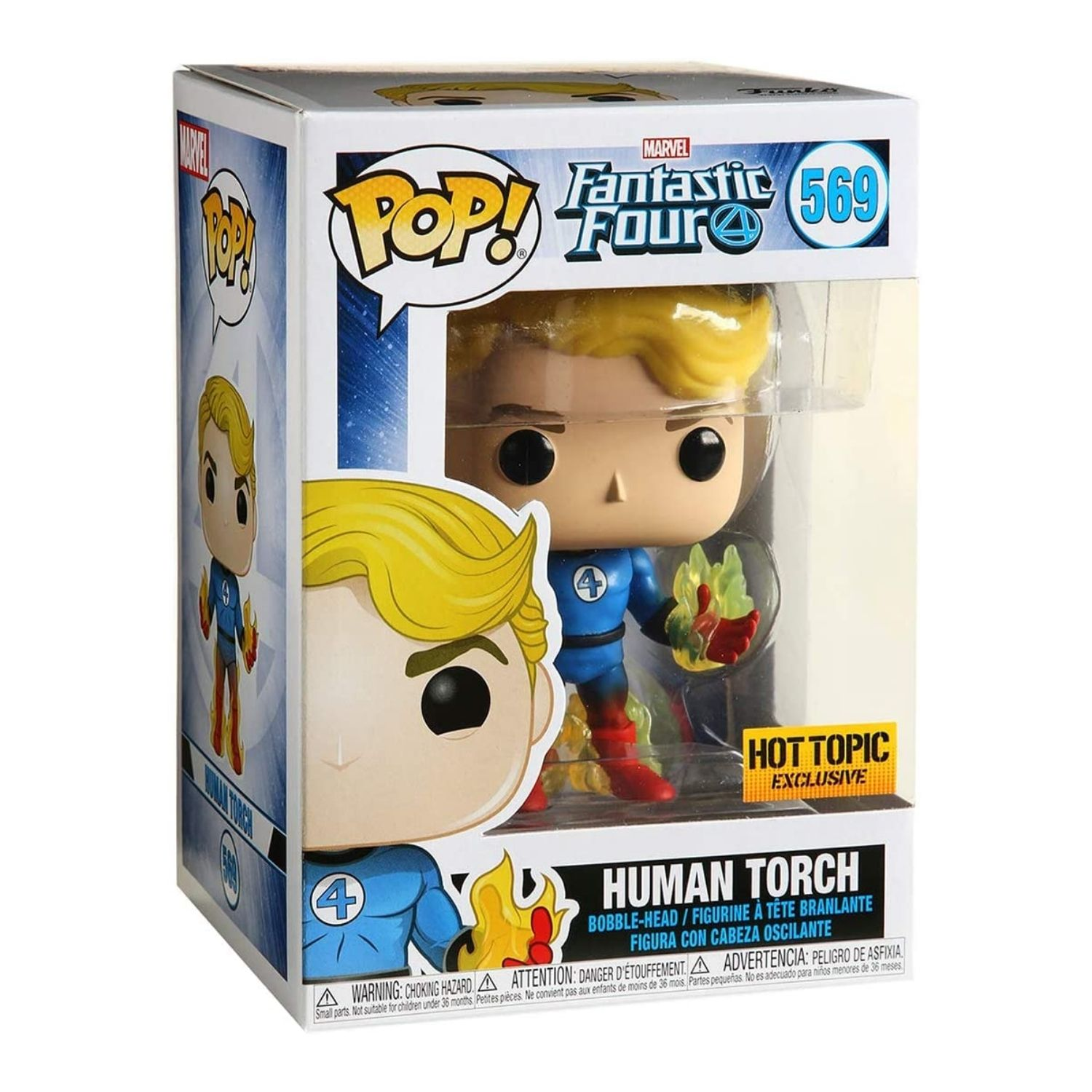 Funko Pop Marvel Fantastic Four Human Torch Hot Topic 569  - Game Land Brinquedos