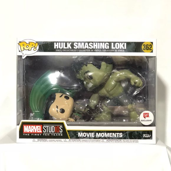 Funko Pop Marvel Hulk Smashing Loki Movie Moments #362 Exclusivo Walgreens  - Game Land Brinquedos