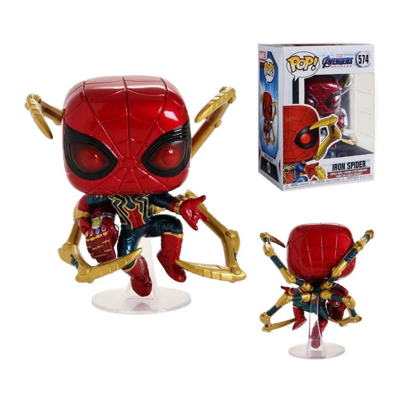 Funko Pop Marvel Iron Spider #574 Avengers Endgame  - Game Land Brinquedos