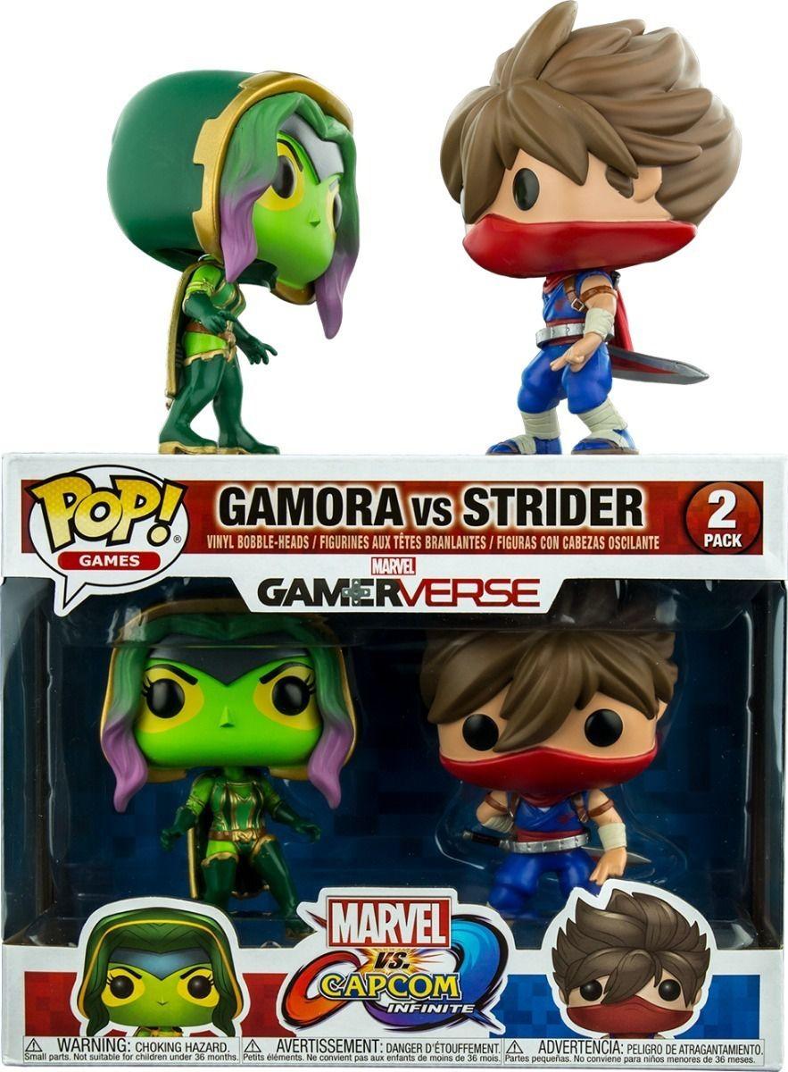 Funko Pop Marvel vs Capcom Strider vs Gamora 2 Pack  - Game Land Brinquedos