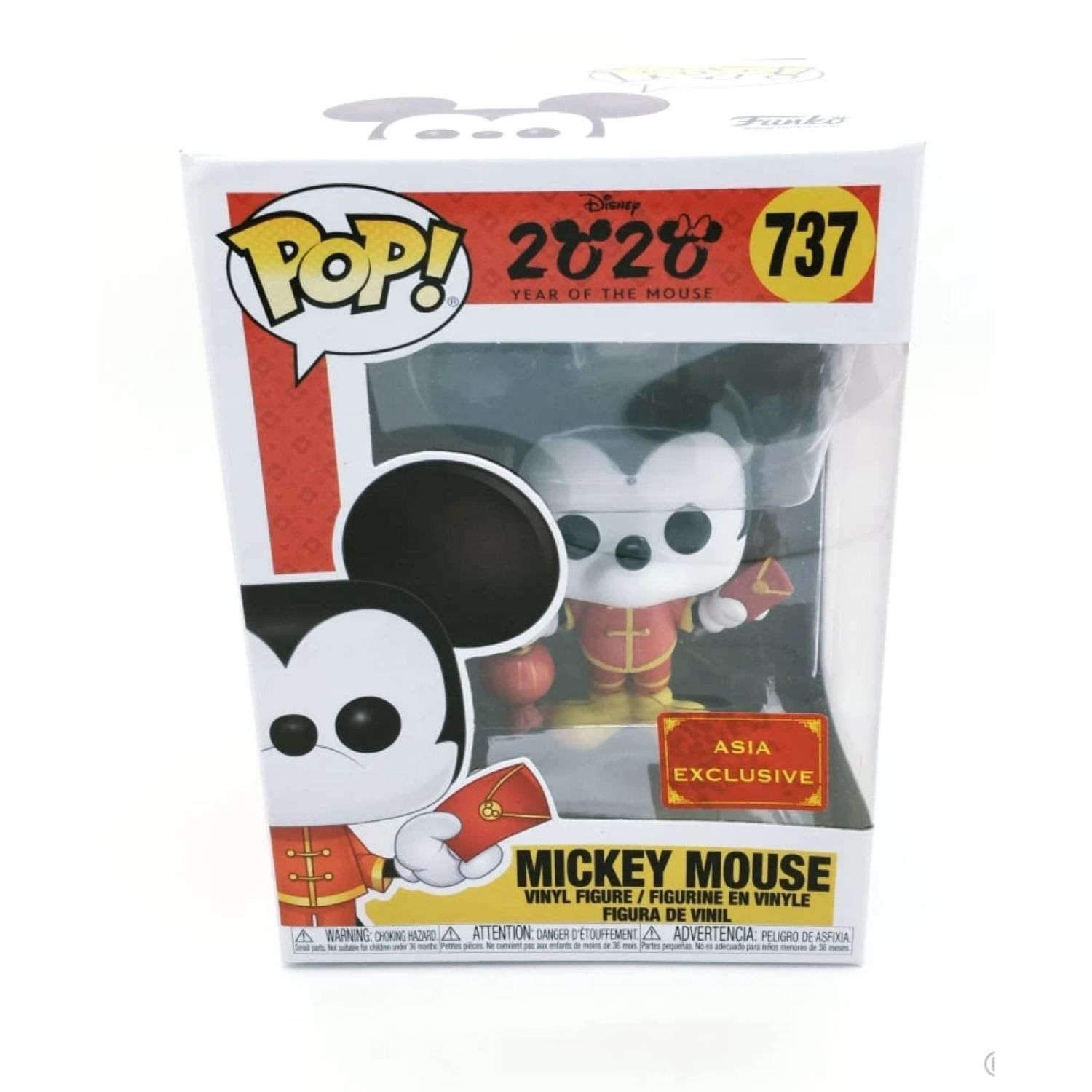 Funko POP! Mickey Mouse 2020 Year Of The Mouse Asia Exclusive #737  - Game Land Brinquedos