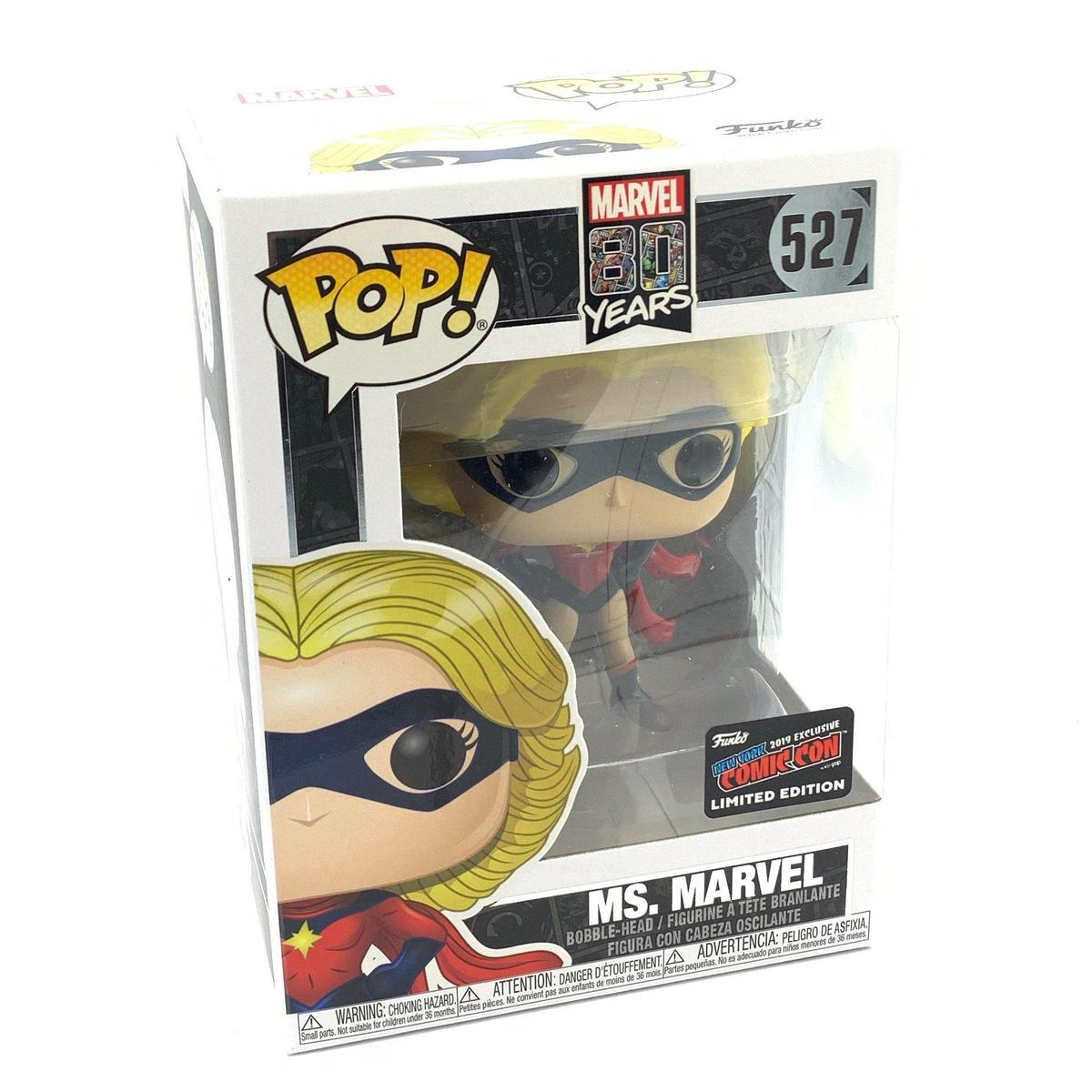 Funko Pop Ms Marvel 80 anos NYCC Exclusivo  - Game Land Brinquedos