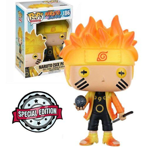 Funko Pop Naruto Shippuden (Six Path) Exclusivo GITD Briha no Escuro  - Game Land Brinquedos