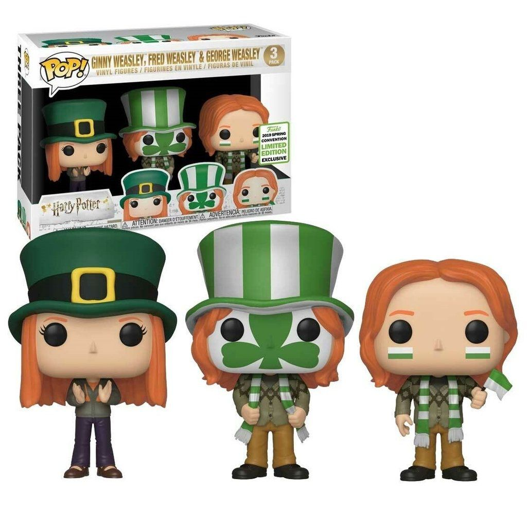 Funko Pop Pack com 3 Weasley - Ginny, Fred e George Coleção Harry Potter Exclusivo Eccc 2019  - Game Land Brinquedos