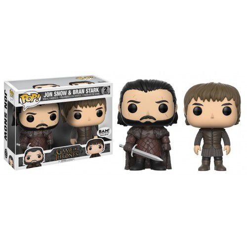 Funko Pop Pack Jon Snow E Brain Stark Game of Thrones BAM Exclusivo  - Game Land Brinquedos