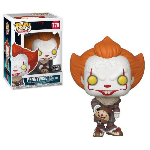 Funko Pop Pennywise with Beaver Hat Exclusivo FYE 779  - Game Land Brinquedos