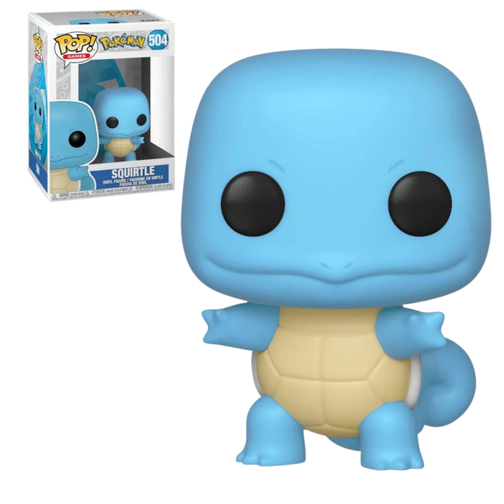 Funko Pop Pokemon Squirtle #504  - Game Land Brinquedos