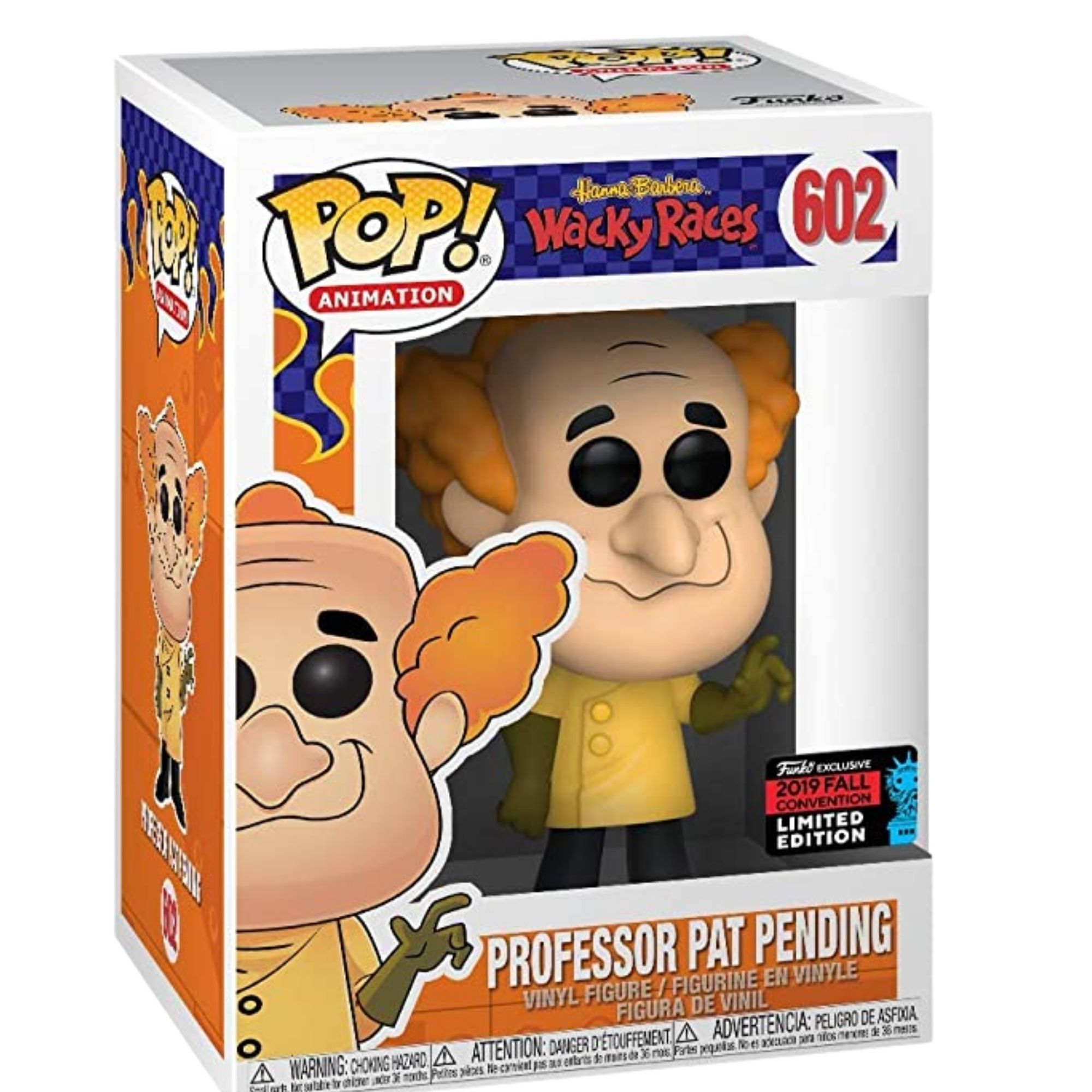 Funko Pop Professor Pat Pending Wacky Races Nycc 19 #602  - Game Land Brinquedos