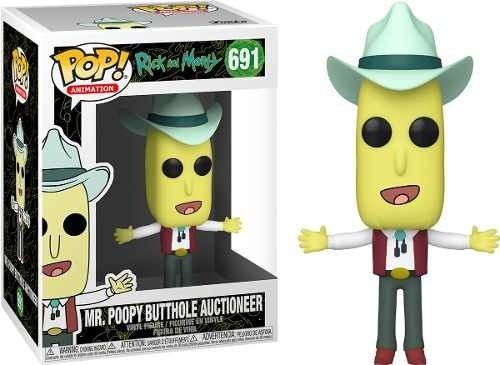 Funko Pop Rick And Morty Mr. Poopy Butthole Auctioneer   - Game Land Brinquedos