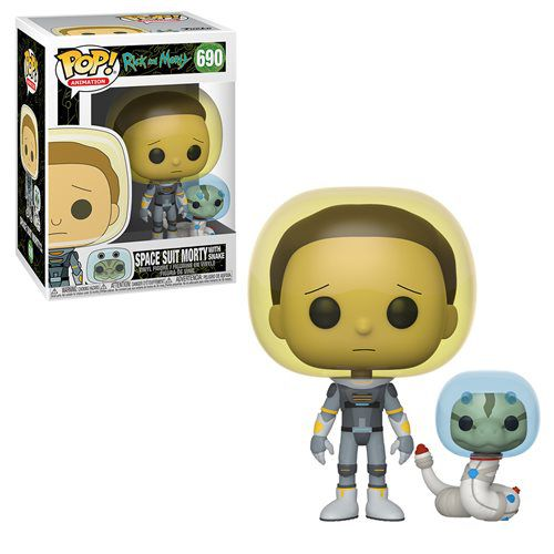 Funko Pop Rick And Morty Space Suit Morty with Snake   - Game Land Brinquedos