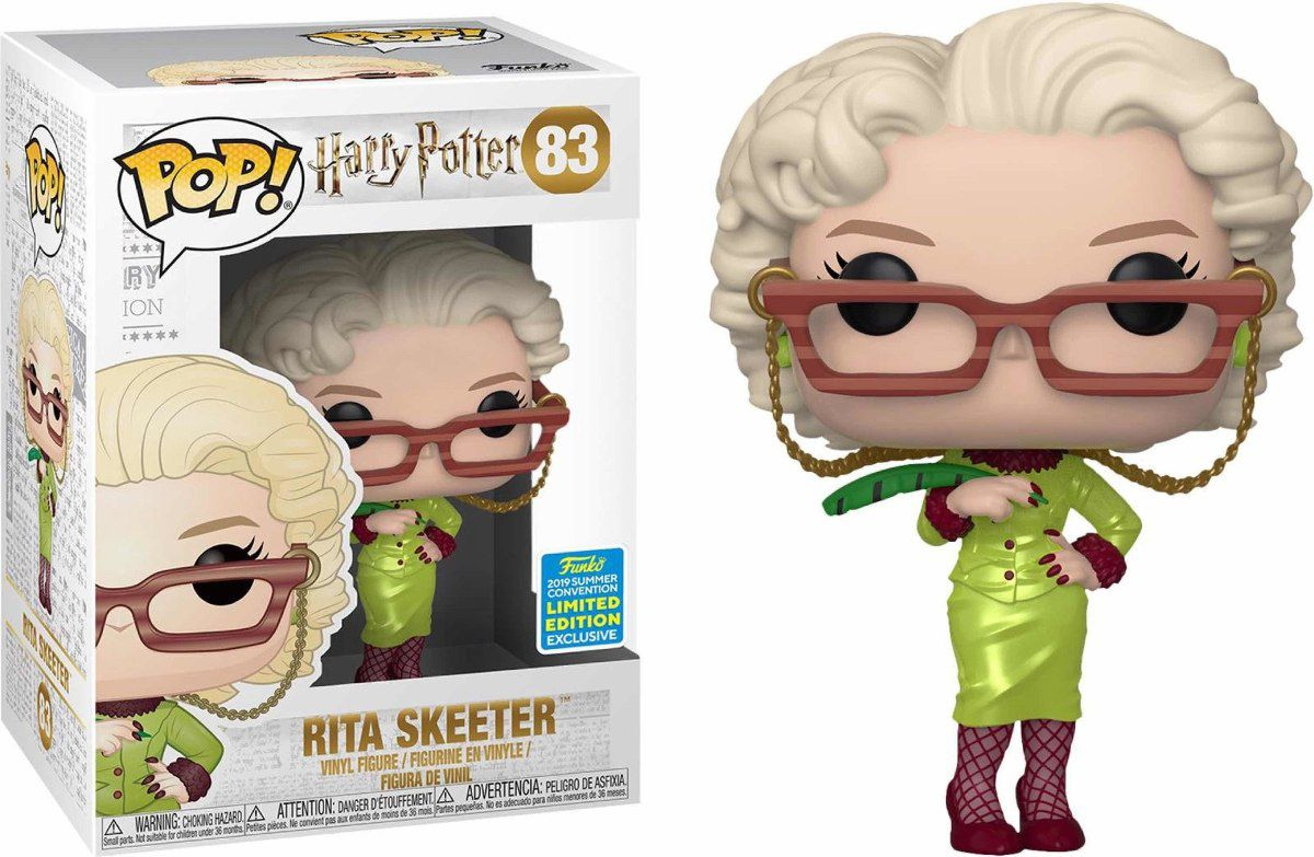 Funko Pop Rita Skeeter Harry Potter San Diego Comic Con 2019  - Game Land Brinquedos