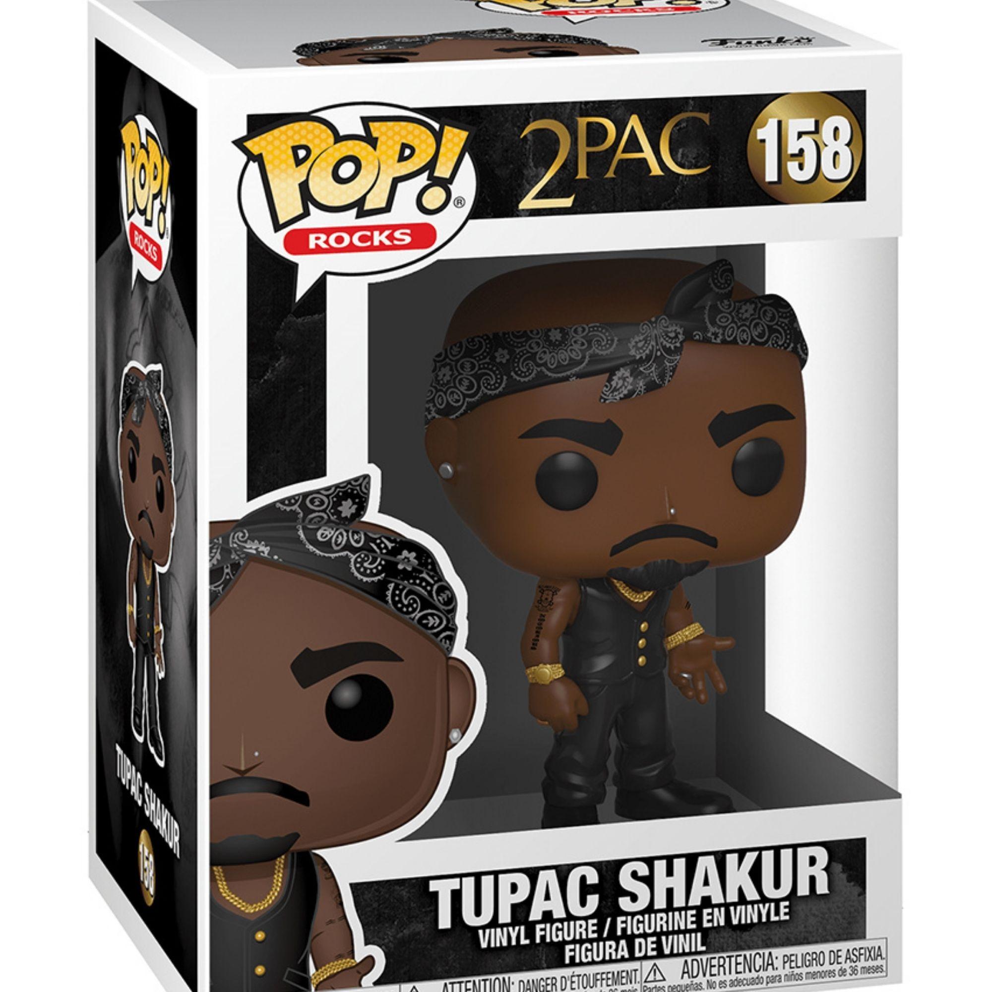 Funko Pop Rocks Tupac Shakur #158  - Game Land Brinquedos
