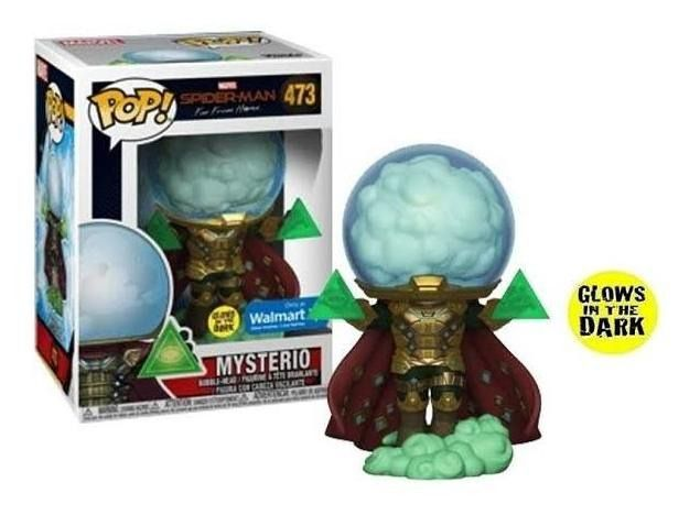 Funko Pop Spider-man Marvel Mysterio Exclusivo Walmart Brilha no escuro  - Game Land Brinquedos