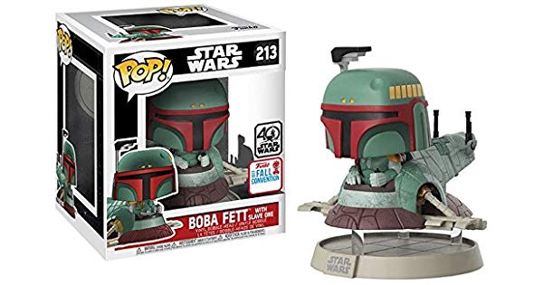 Funko Pop Star Wars 213 Boba Fett com Nave Slave One  - Game Land Brinquedos