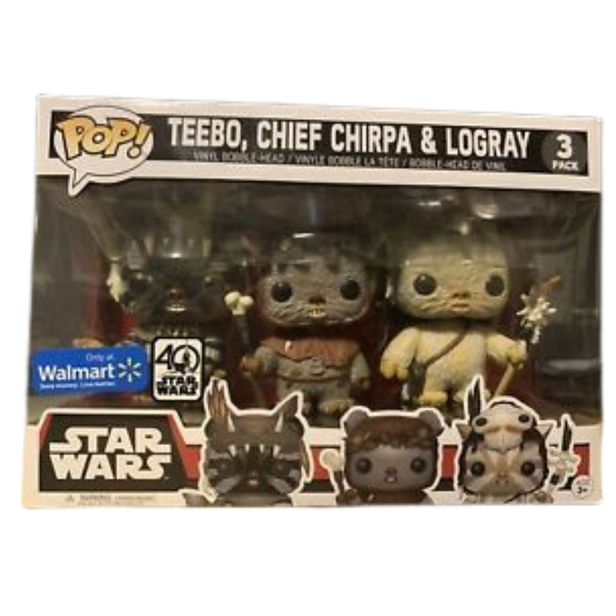 Funko Pop Star Wars  3 Pack Ewok Exclusivo Wallmart  - Game Land Brinquedos