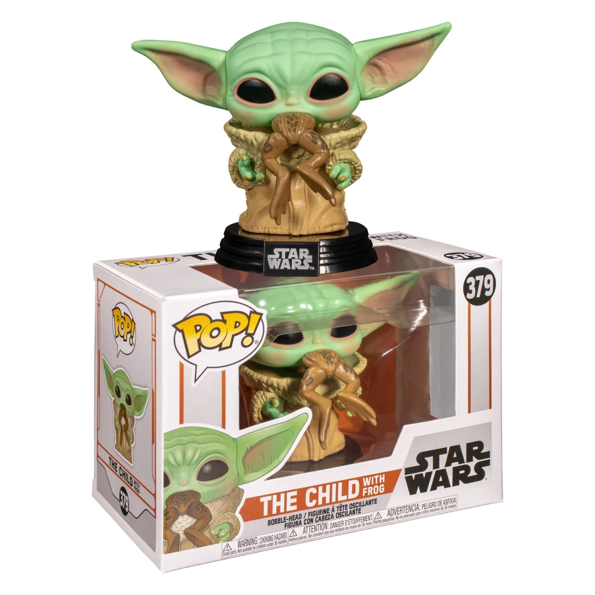 Funko Pop Star Wars Baby Yoda with Frog The Child   - Game Land Brinquedos