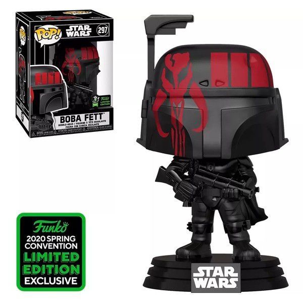 Funko Pop Star Wars Boba Fett Exclusivo ECCC 2020 297 - Game Land Brinquedos