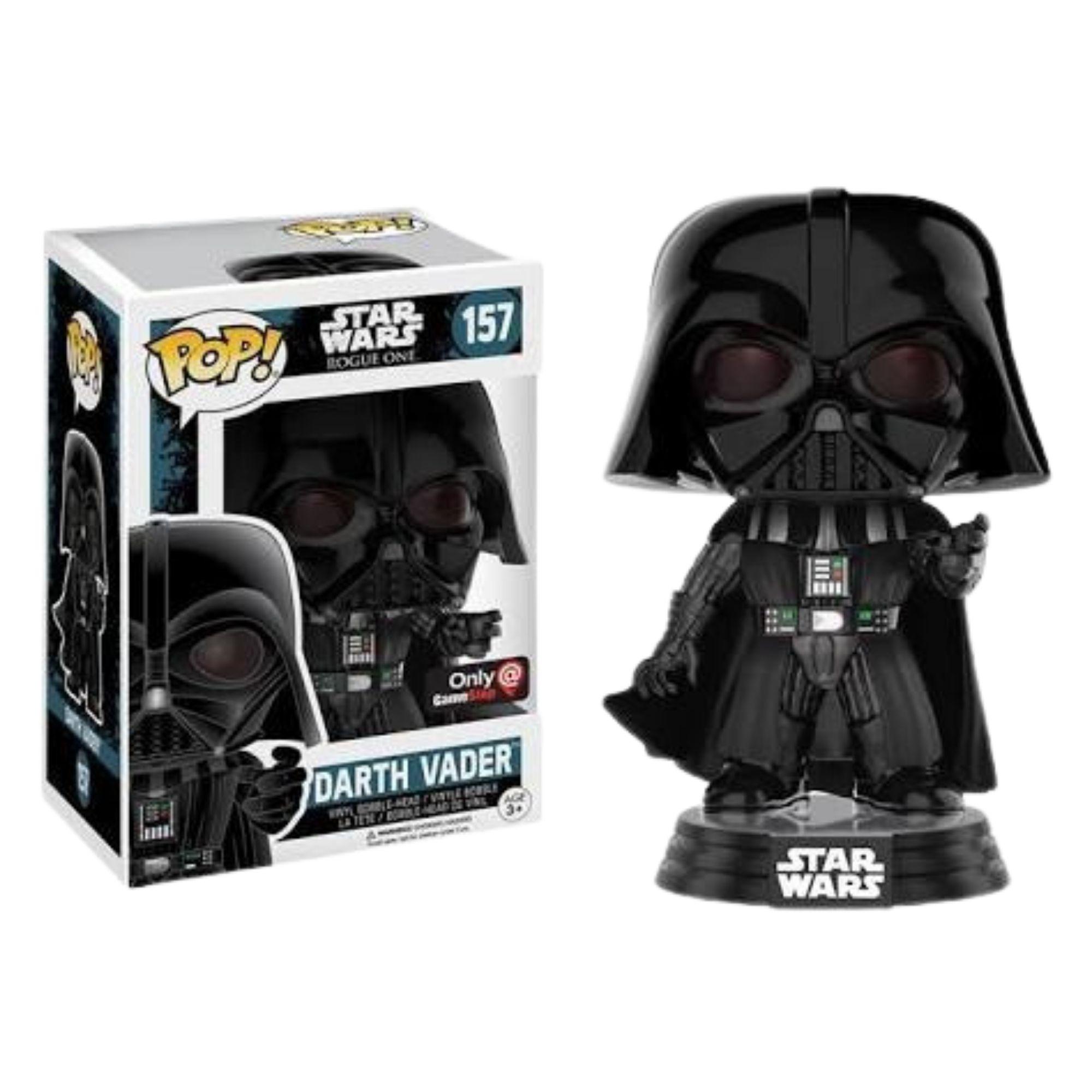 Funko Pop Star Wars Darth Vader #157 Exclusivo GameStop  - Game Land Brinquedos