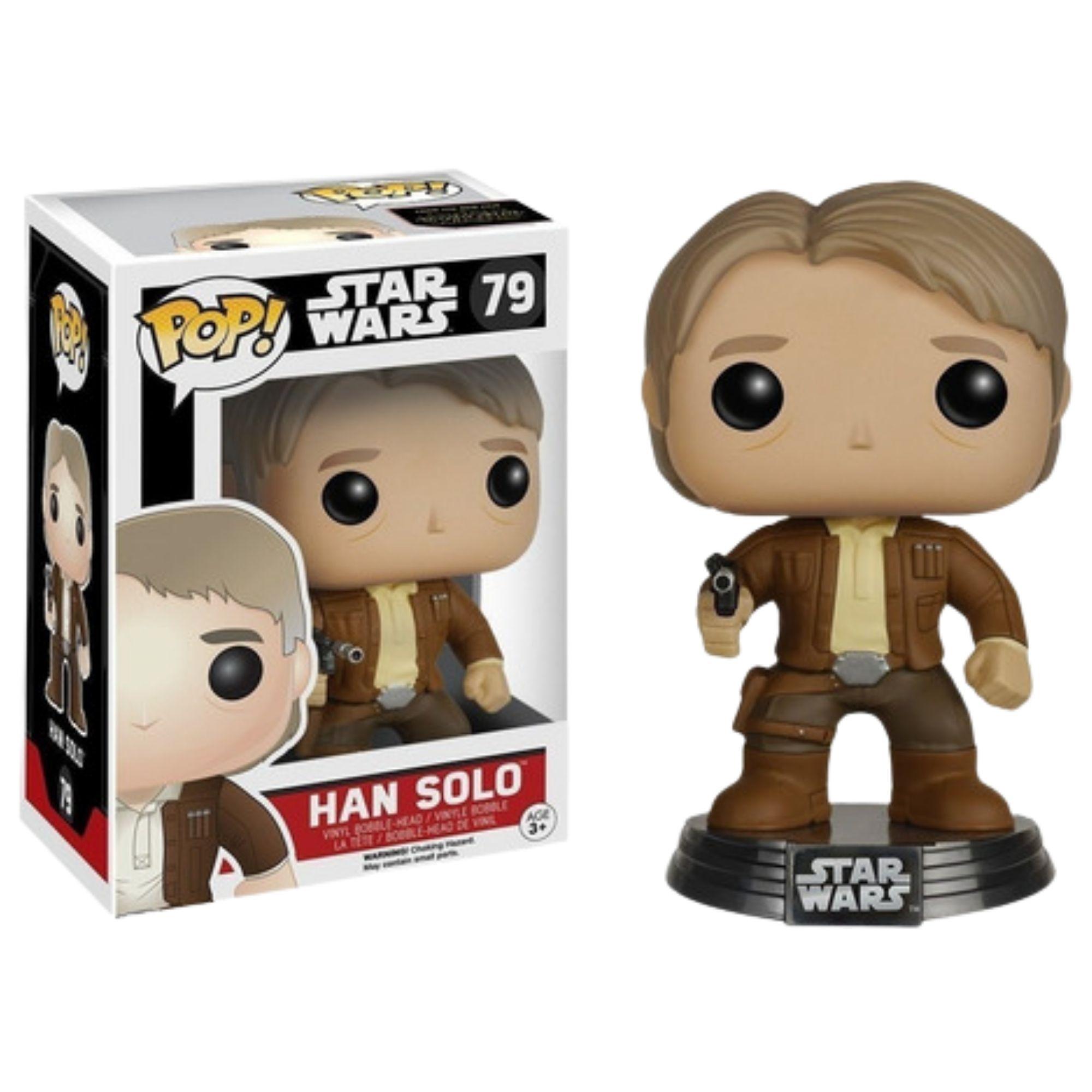 Funko Pop Star Wars Han Solo #79 O Despertar da Força  - Game Land Brinquedos