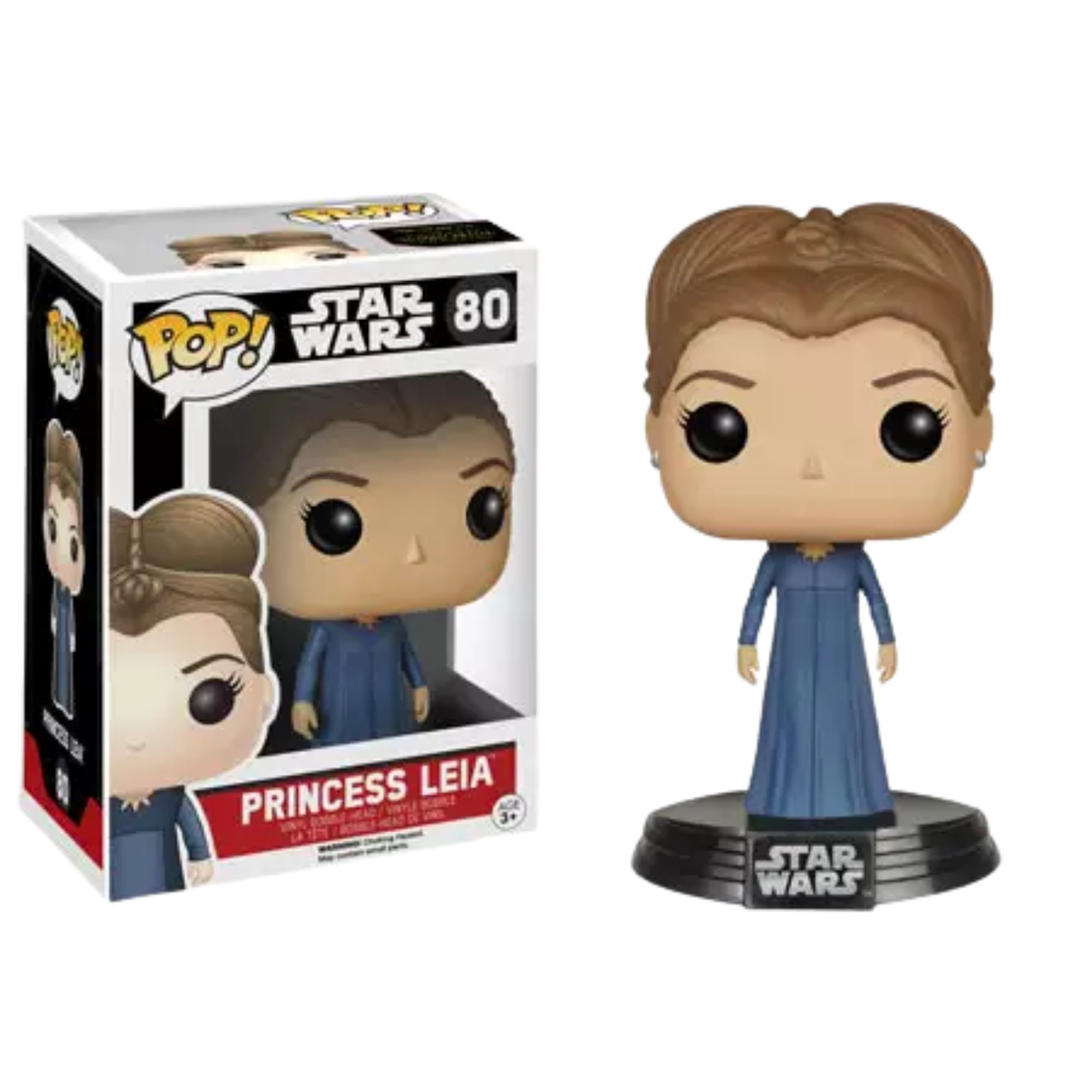 Funko Pop Star Wars Princesa Leia #80  - Game Land Brinquedos