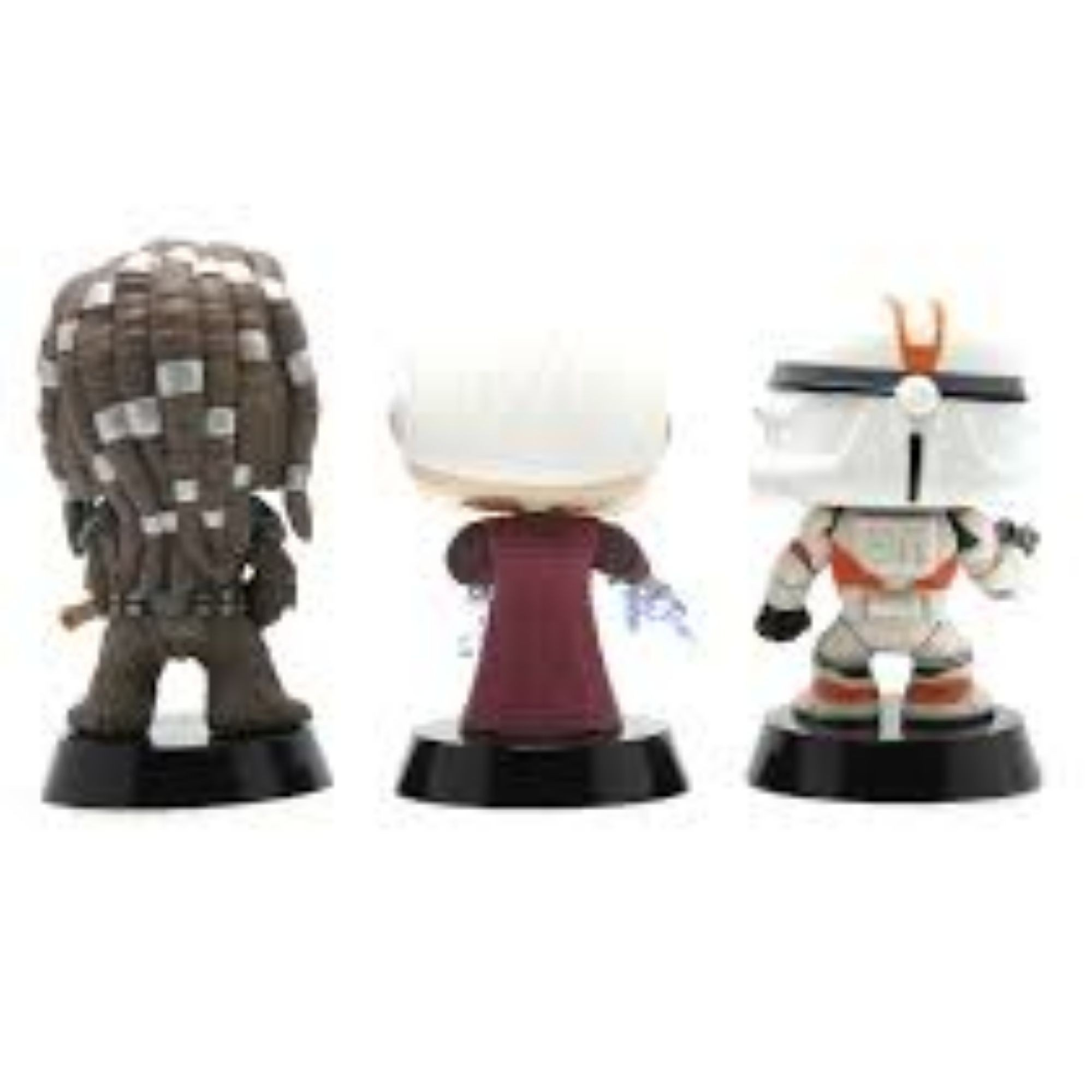Funko Pop Star Wars Tarfful, Unhooded Emperor e Utapau Clone trooper   - Game Land Brinquedos