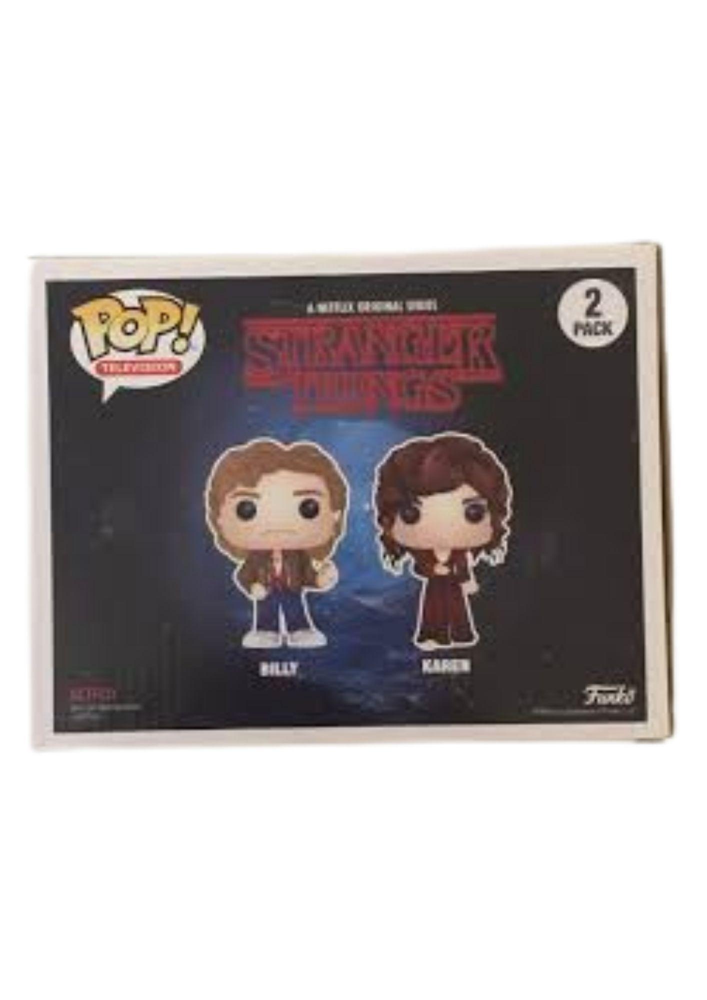Funko Pop Stranger Things Billy e Karen Sdcc   - Game Land Brinquedos