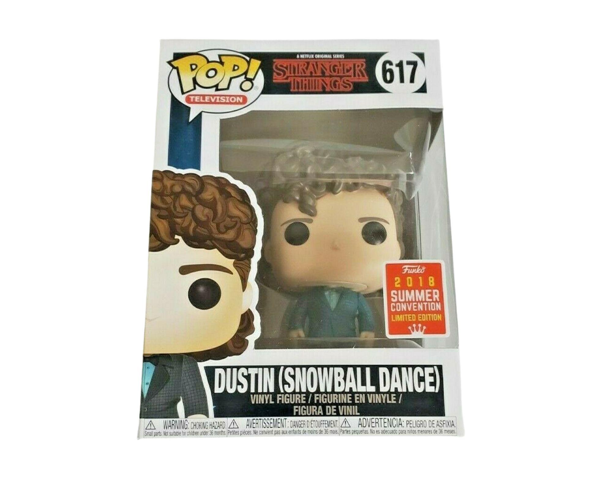 Funko Pop Stranger Things Dustin (Snowball Dance) Sdcc #617  - Game Land Brinquedos
