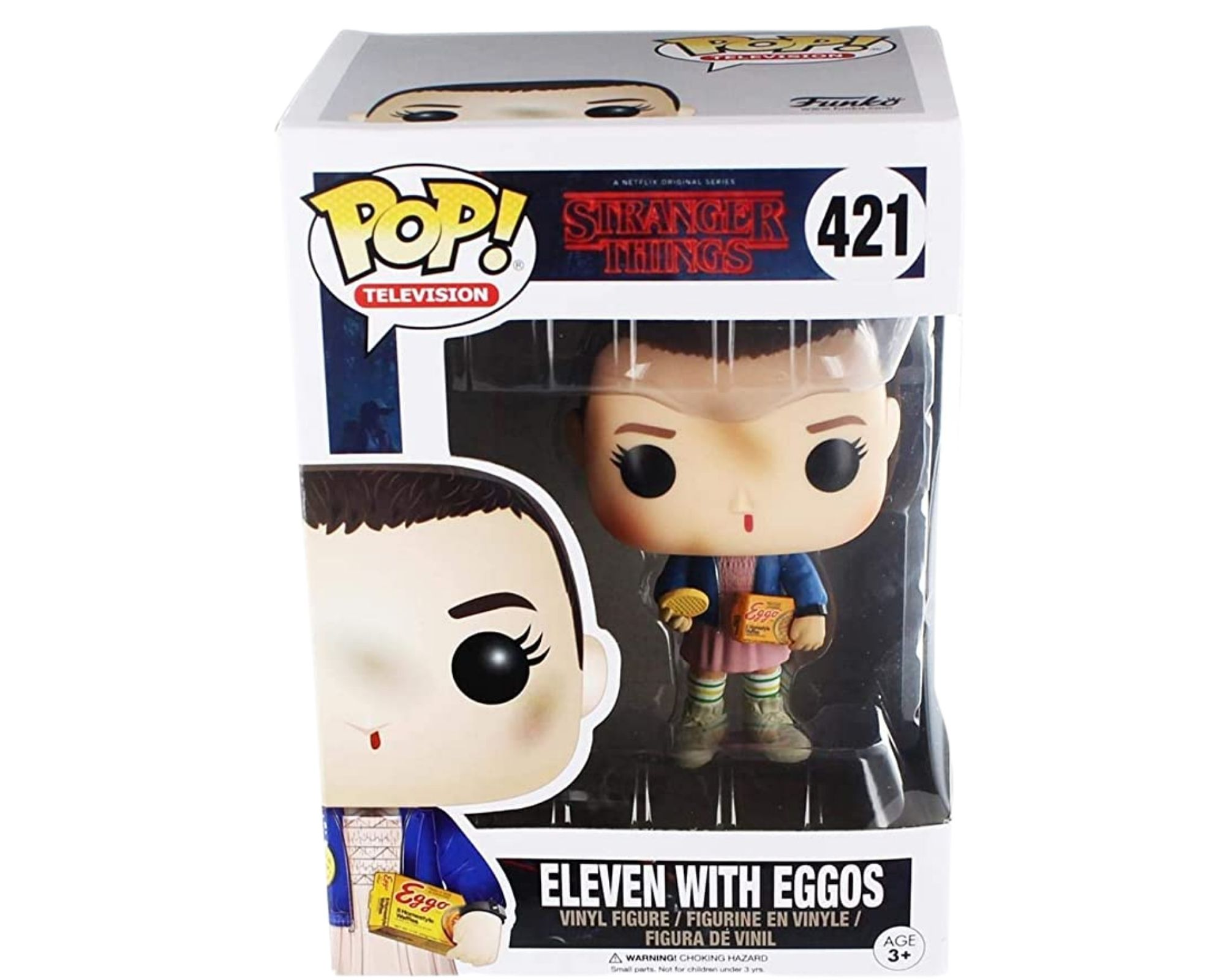 Funko Pop Stranger Things Eleven with Eggos #421  - Game Land Brinquedos