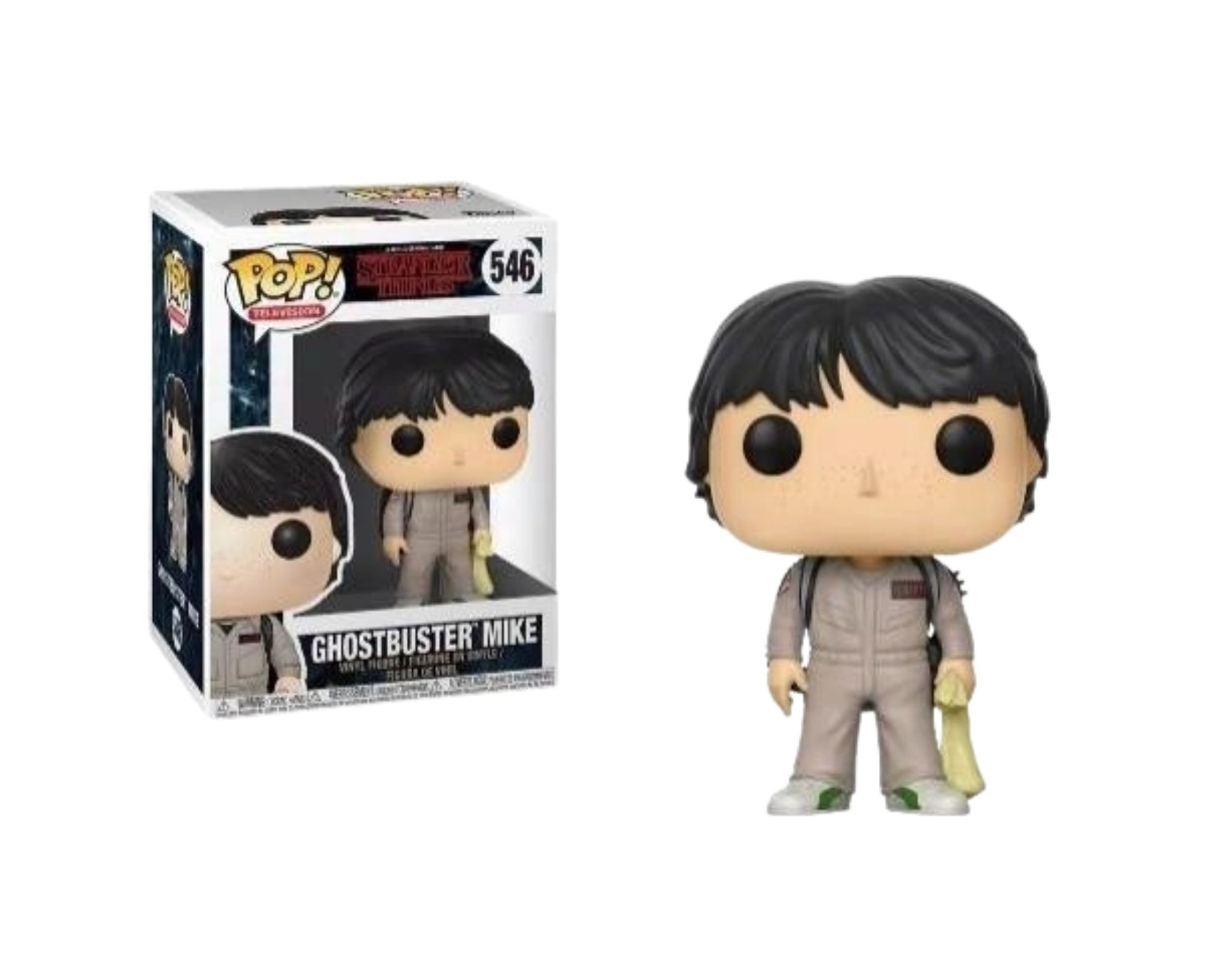 Funko Pop Stranger Things Ghostbuster Mike #546  - Game Land Brinquedos