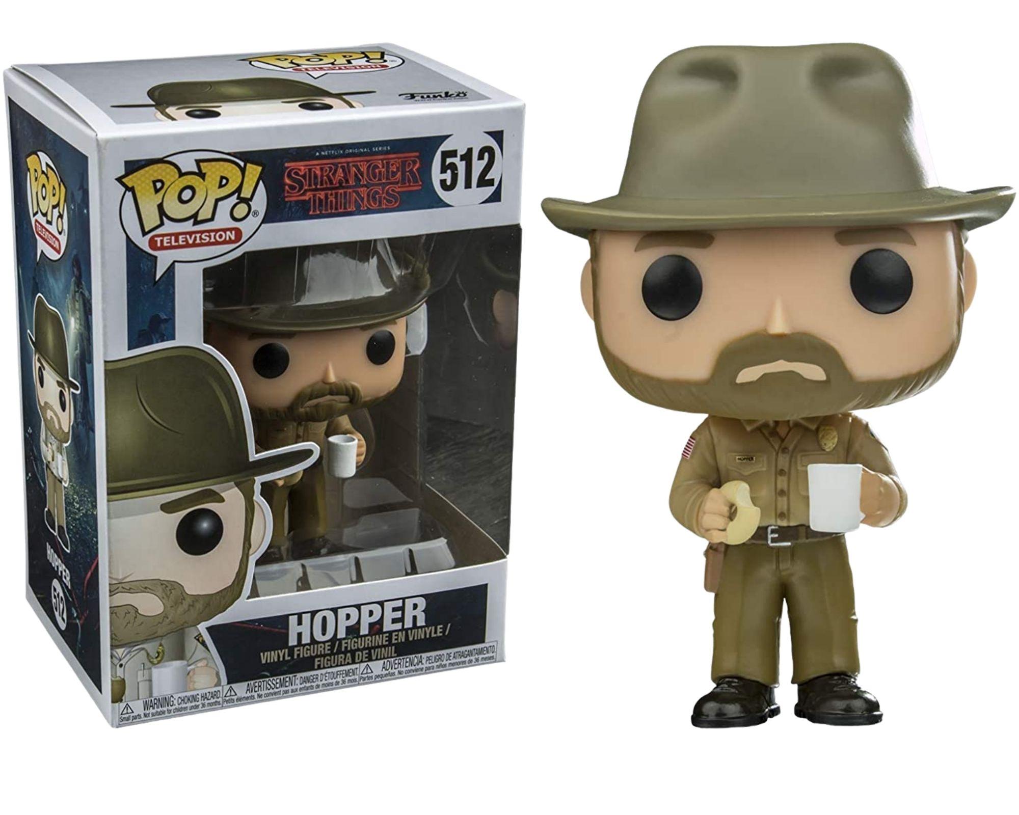 Funko Pop Stranger Things Hopper #512  - Game Land Brinquedos