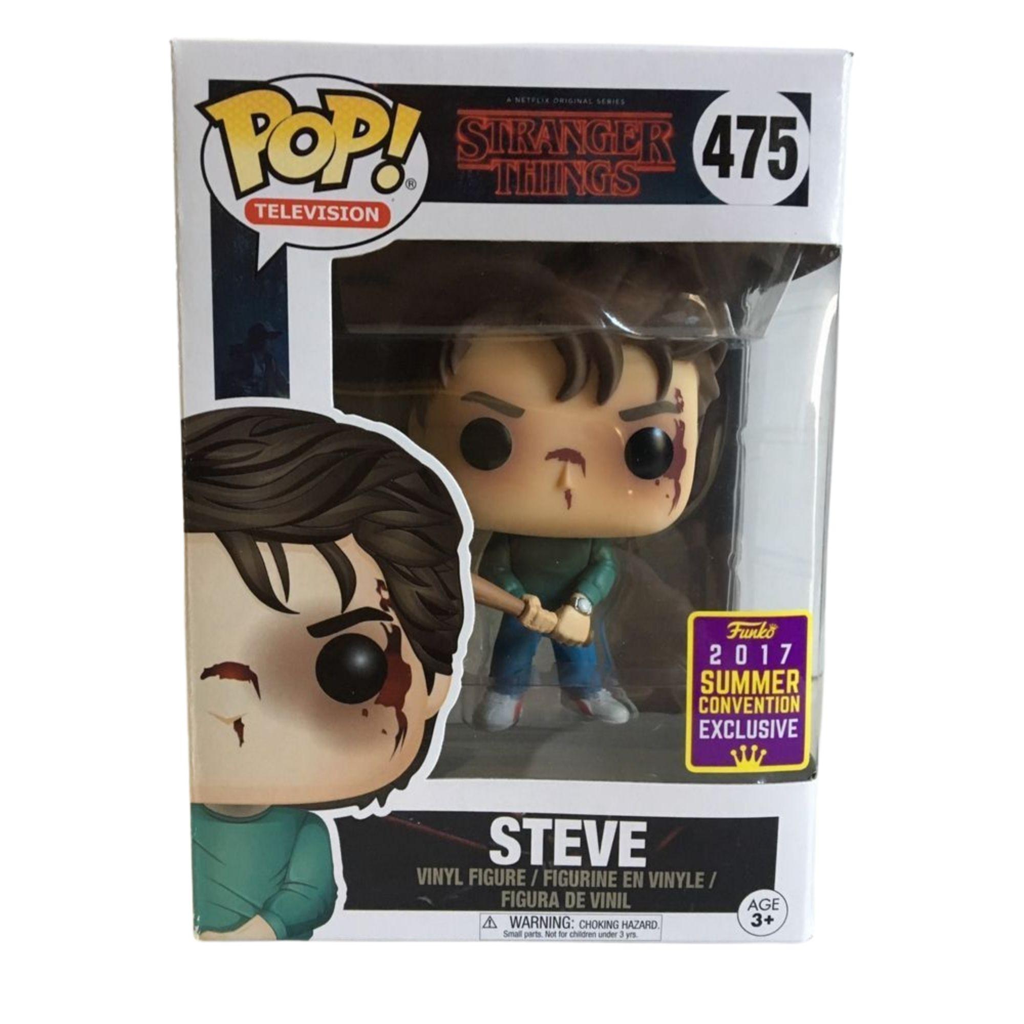Funko Pop Stranger Things Steve Exclusivo Sdcc #475  - Game Land Brinquedos