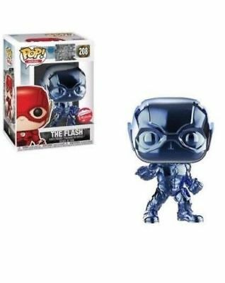 Funko Pop The Flash Cromado Azul Exclusivo Fugitivetoys  - Game Land Brinquedos