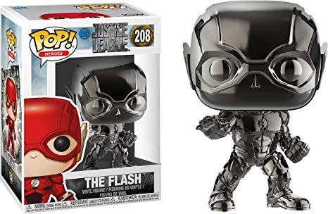 Funko Pop The Flash Cromado Exclusivo Fugitivetoys # 208  - Game Land Brinquedos