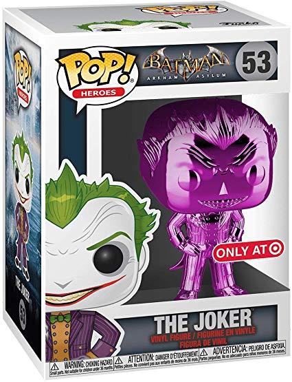 Funko Pop The Joker 53 metálico Roxo Exclusivo Target  - Game Land Brinquedos