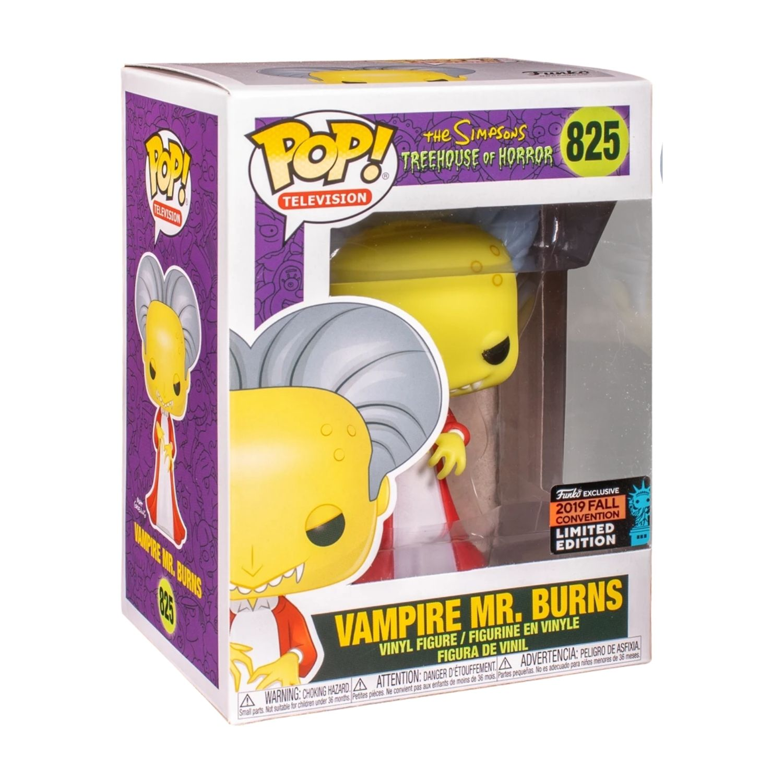 Funko Pop The Simpsons Nycc 2019 - Vampire Mr. Burns #825  - Game Land Brinquedos