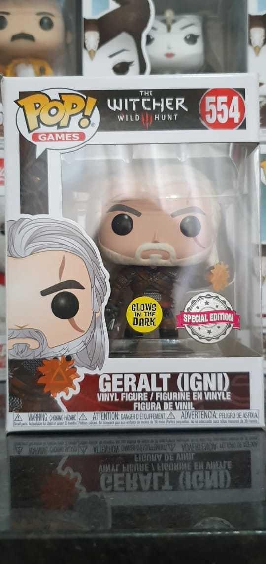 Funko Pop The Witcher Geralt Brilha no Escuro Edição Especial 554  - Game Land Brinquedos