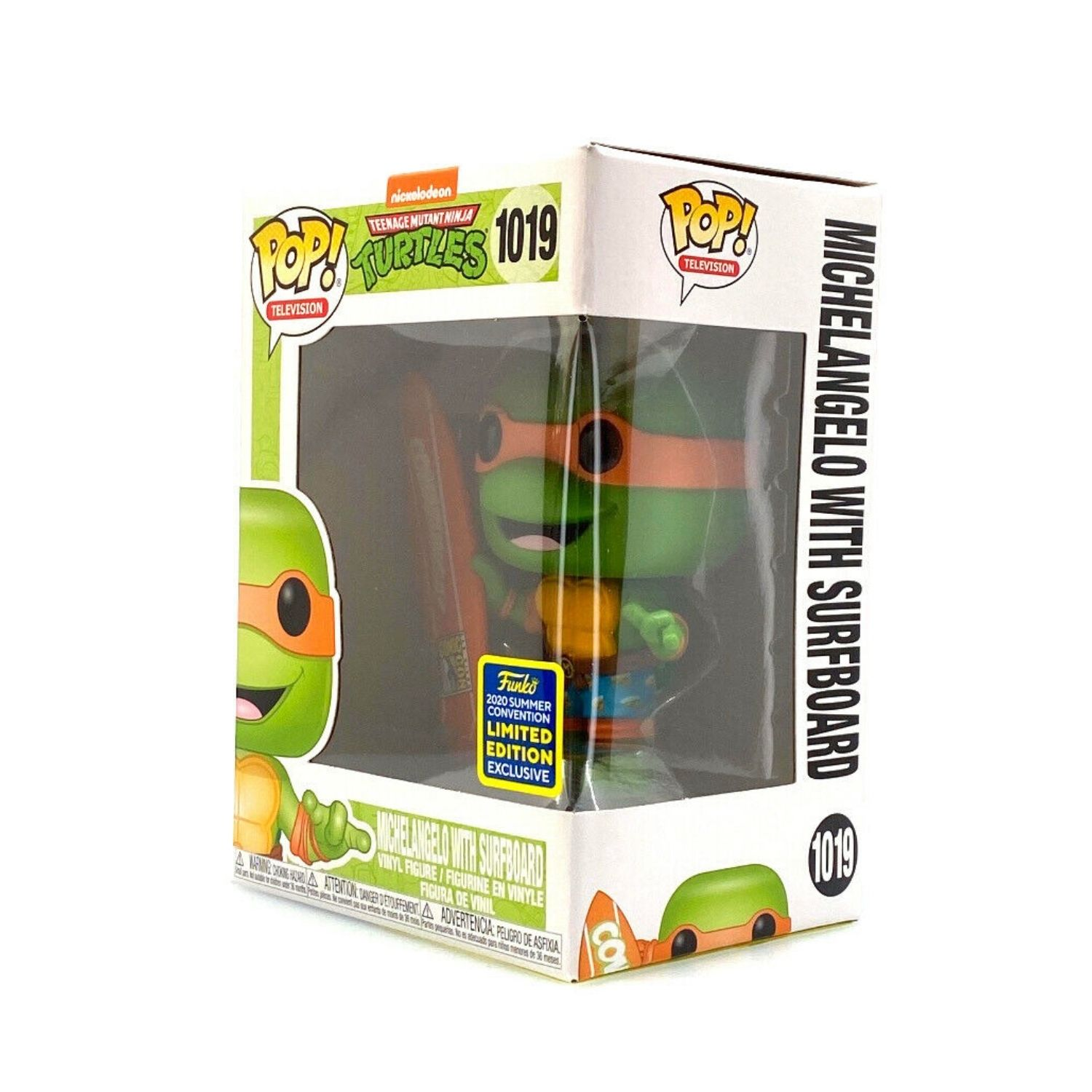 Funko Pop TMNT Michelangelo With Surfboard #1019 Summer Convention Limited Edition  - Game Land Brinquedos