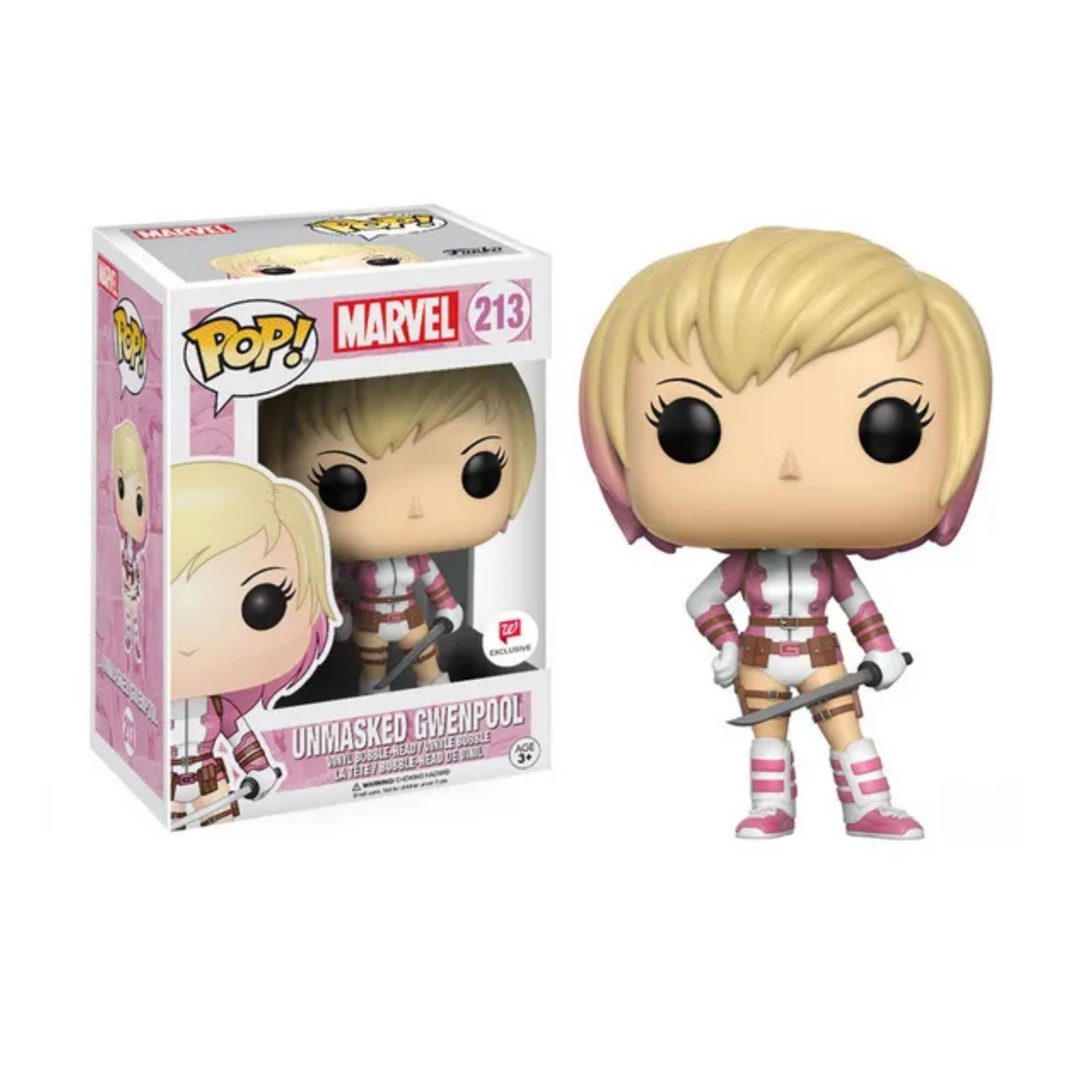 Funko Pop Unmasked Gwenpool Marvel #213 Walgreens  - Game Land Brinquedos