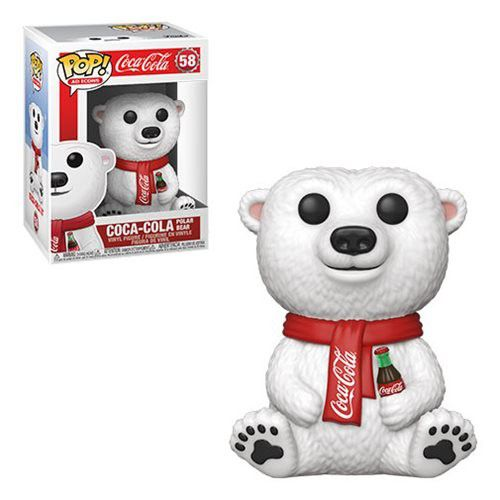 Funko Pop Urso Coca Cola Polar Bear Ad Icons  - Game Land Brinquedos