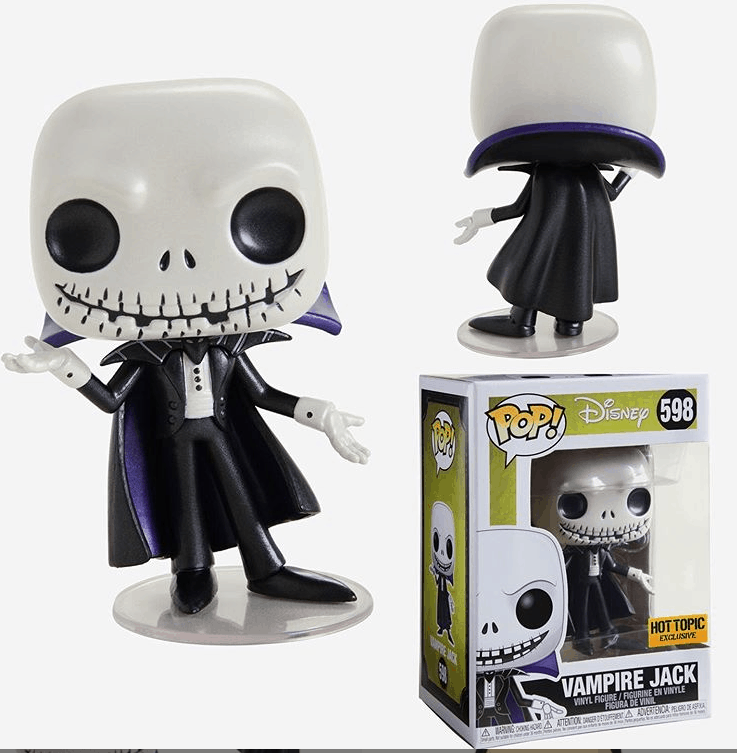 Funko Pop Vampire Jack Exclusivo Hot Topic Disney 598  - Game Land Brinquedos