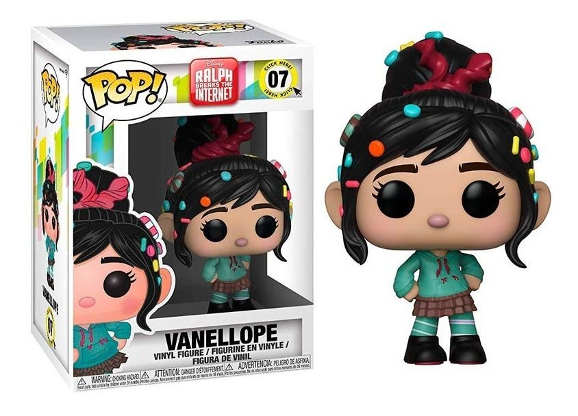 Funko Pop Vanellope Disney Ralph Breaks the Internet  - Game Land Brinquedos