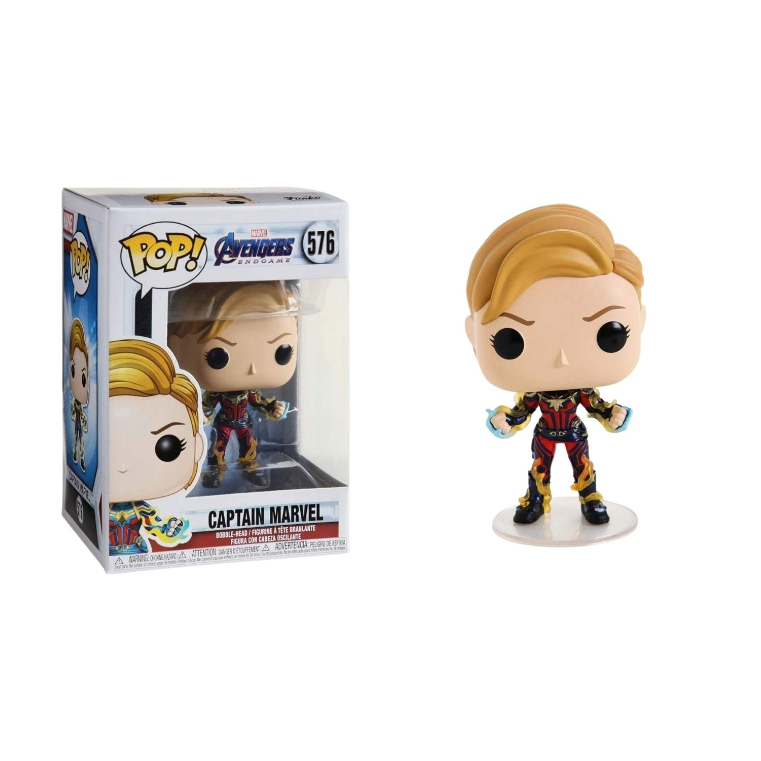 Funko Pop! Vingadores Endgame - Captain Marvel #576  - Game Land Brinquedos