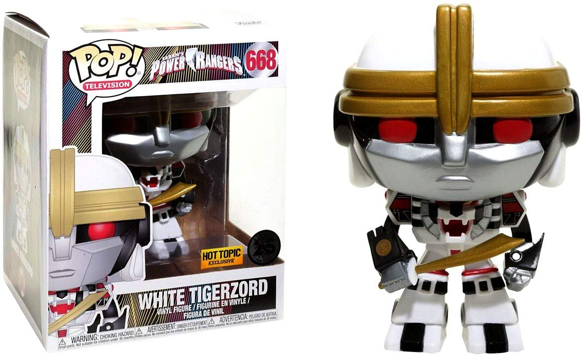 Funko Pop White Tigerzord Exclusivo Hot Topic Power Rangers Super Size  - Game Land Brinquedos