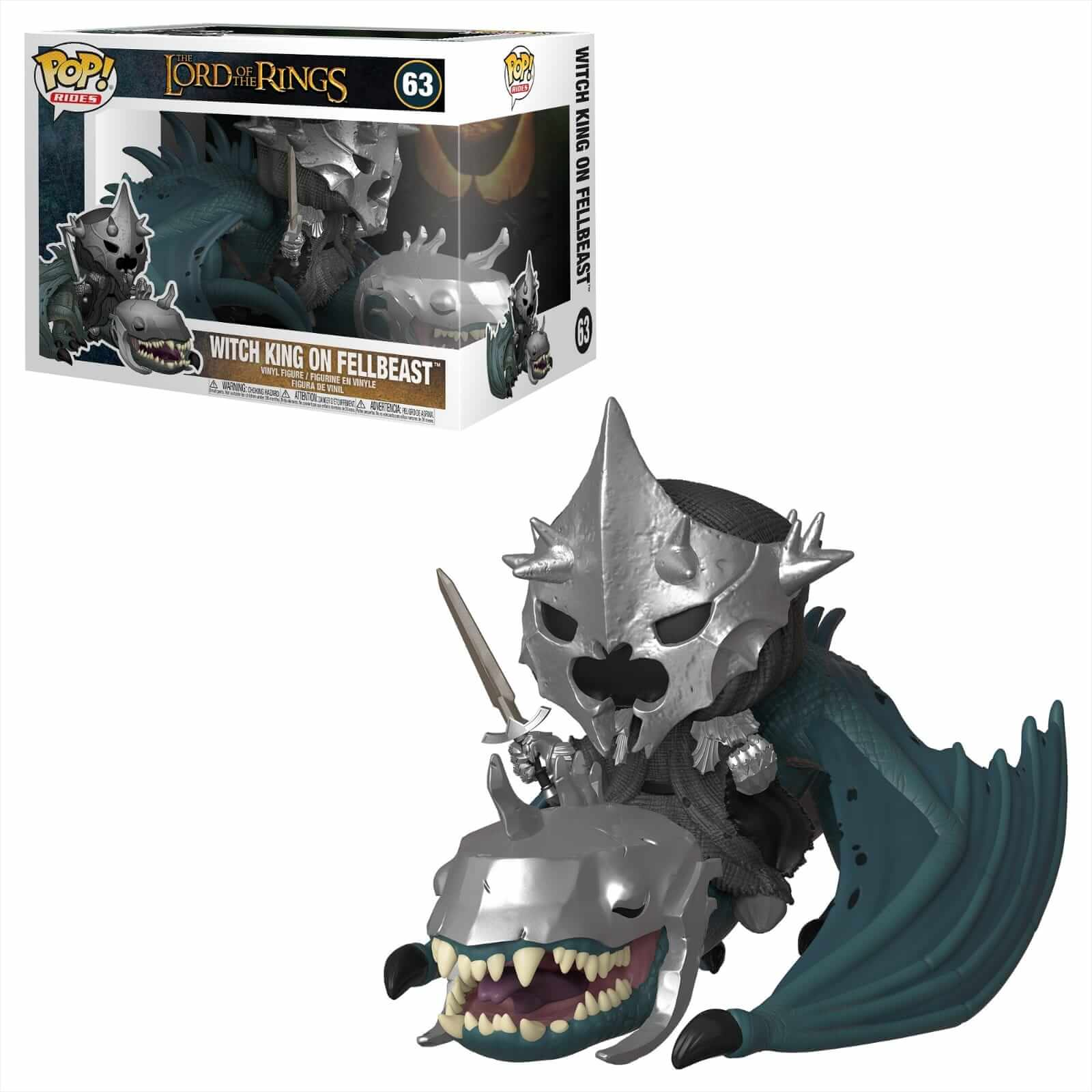Funko Pop Witch King on Fellbeast Lord of the Rings Funko Rides  - Game Land Brinquedos