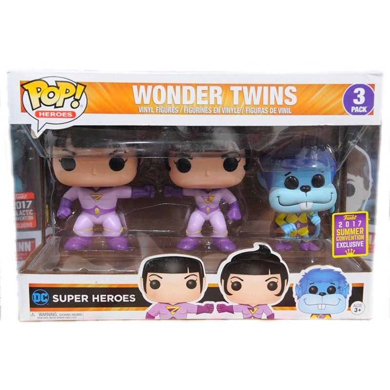 Funko Pop Wonder Twins - Dc Super Heroes - 3 Pack - Funko - Sdcc 2017  - Game Land Brinquedos