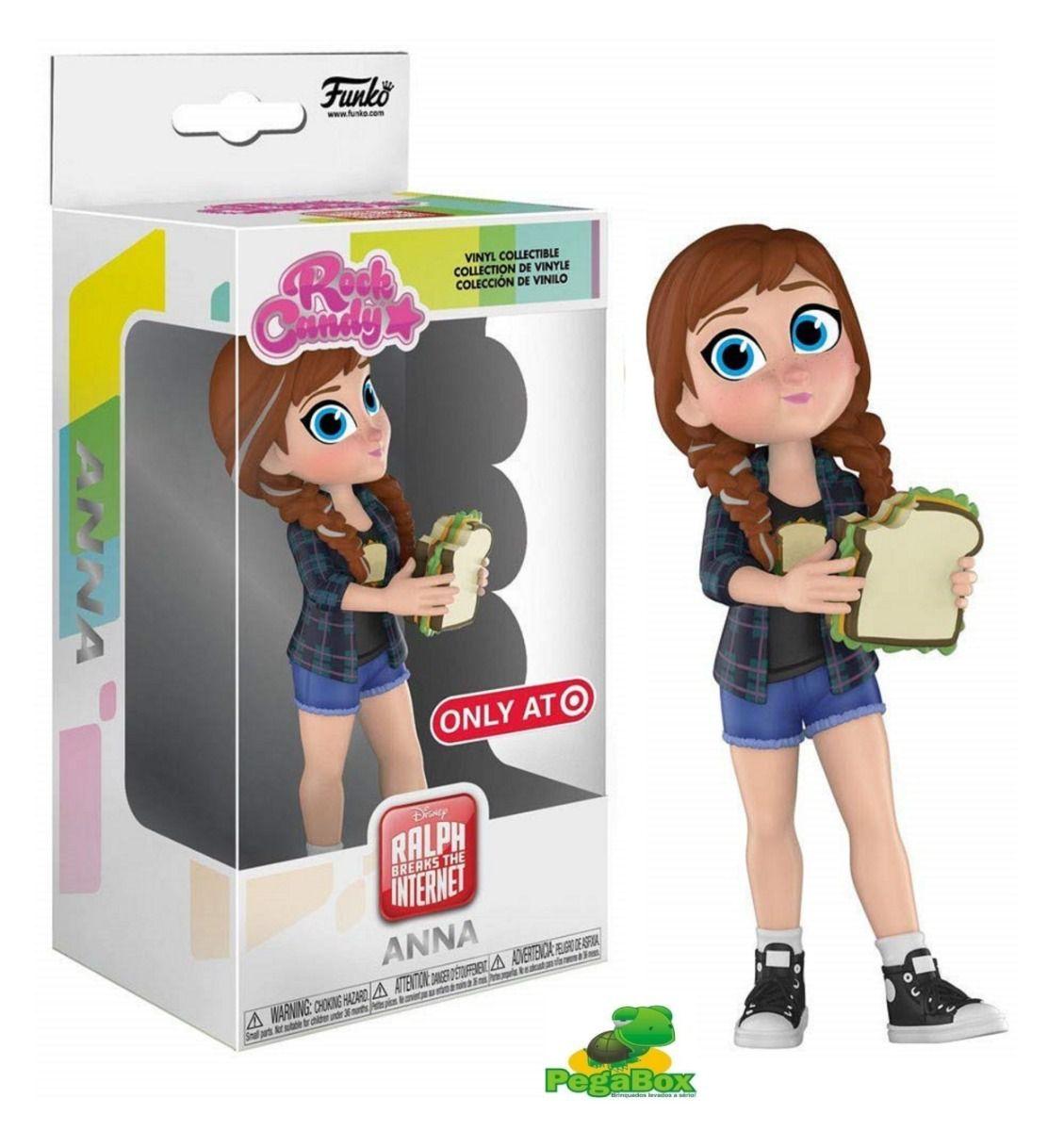 Funko Rock Candy Disney Princesa Anna Disney Exclusiva  - Game Land Brinquedos