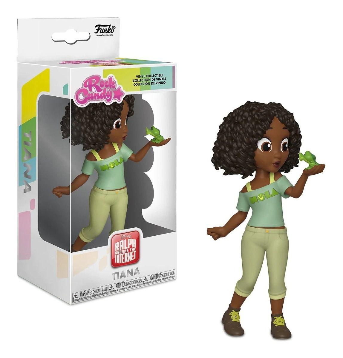 Funko Rock Candy Princesa Tiana versão Detona Ralph  - Game Land Brinquedos