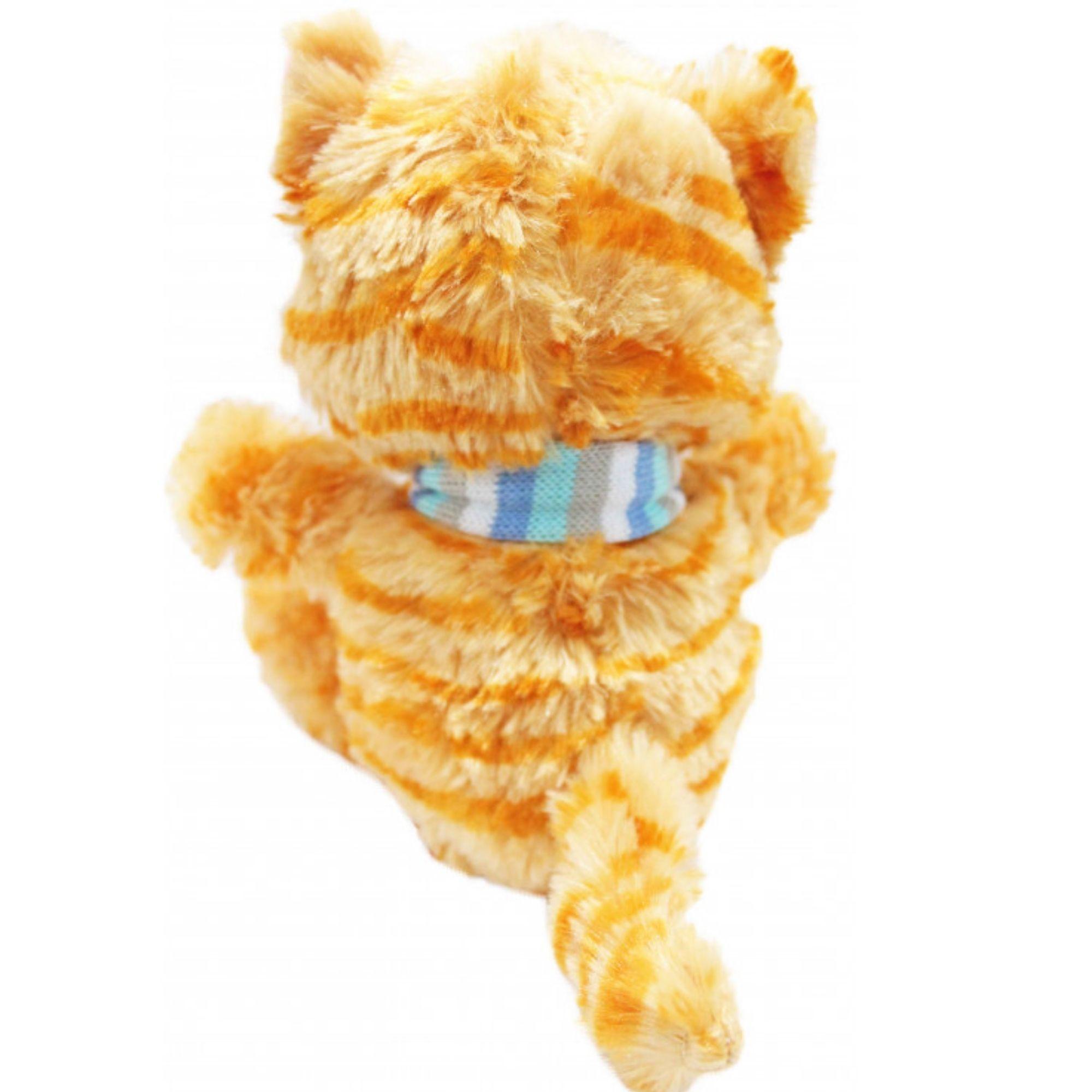 Gatinho de Pelucia com olhos brilhantes com Cachecol 20 cm  - Game Land Brinquedos
