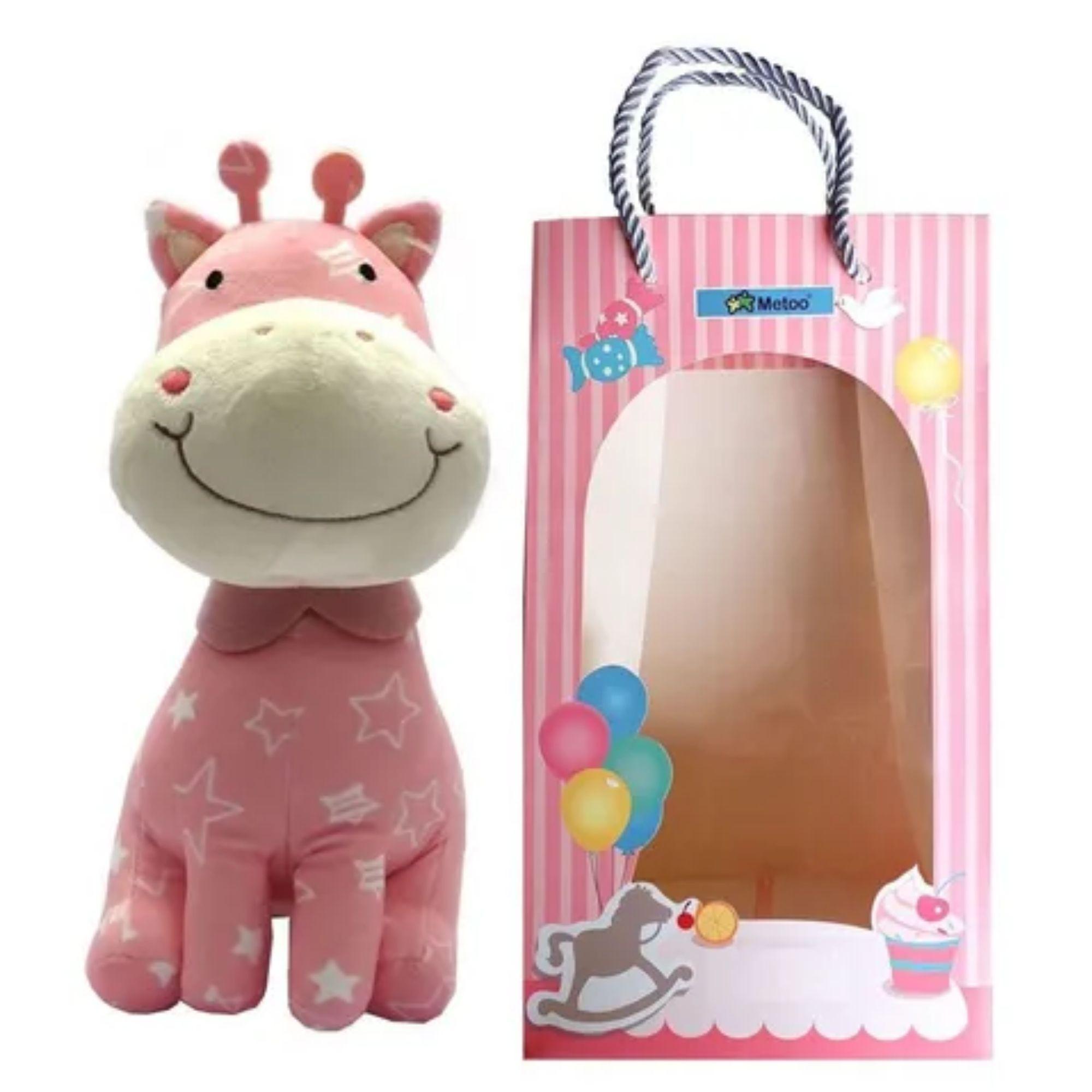 Girafa de Pelucia Metoo para Bebês Rosa ou Lilás  - Game Land Brinquedos